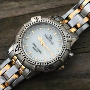 Free Style Ladies Watch Silver/Gold Tone Analog Wr